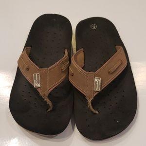 Panama Jack mens tan flip flop